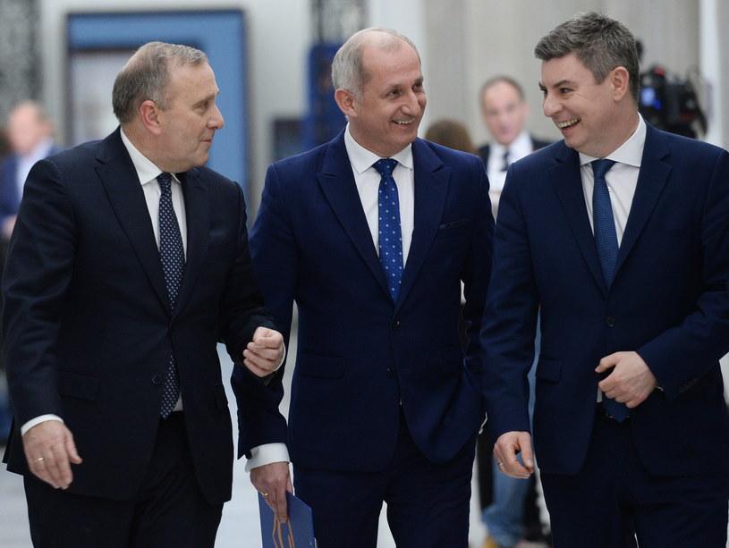 Grzegorz Schetyna, Sławomir Neumann i Jan Grabiec - posłowie PO /Jacek Tuczyk /PAP