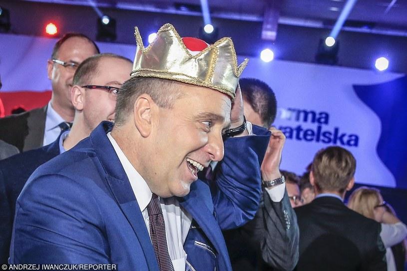 Grzegorz Schetyna tuż po ogłoszeniu wyniku wyborów na przewodniczącego Platformy Obywatelskiej /Andrzej Iwańczuk /Reporter