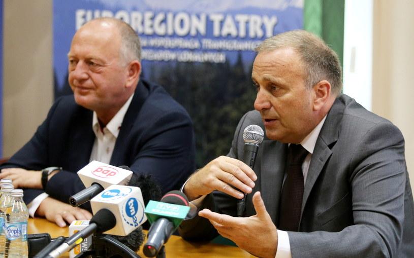 Grzegorz Schetyna w Nowym Targu /Grzegorz Momot /PAP