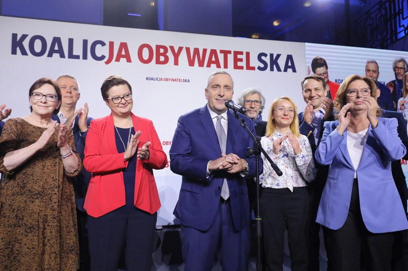 Grzegorz Schetyna w sztabie KO /Paweł Supernak /PAP