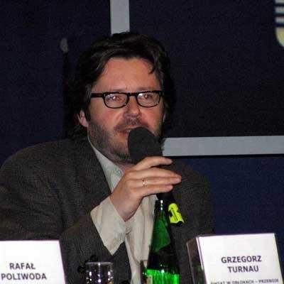 Grzegorz Turnau podczas konferencji prasowej /INTERIA.PL