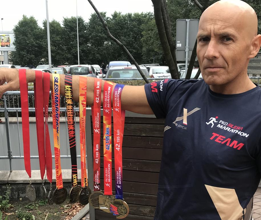 Grzegorz Wawrzyczek, który wziął udział we wszystkich edycjach Silesia Maratonu /Marcin Buczek /RMF FM