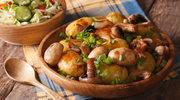 Grzyby z pieczonymi ziemniakami
