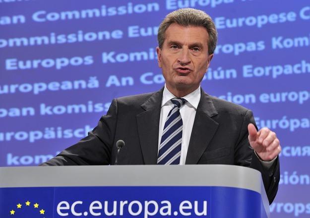 Guenther Oettinger, komisarz ds. energii UE /AFP