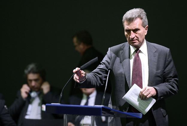 Guenther Oettinger, komisarz UE ds. energii /AFP