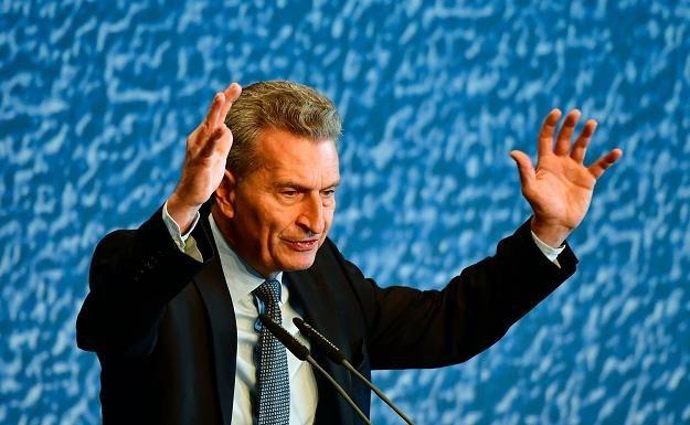 Guenther Oettinger, unijny komisarz ds. budżetu /AFP