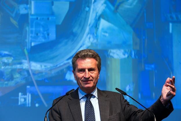 Guenther Oettinger, unijny komisarz ds. energii, dzisiaj w Greifswald /EPA