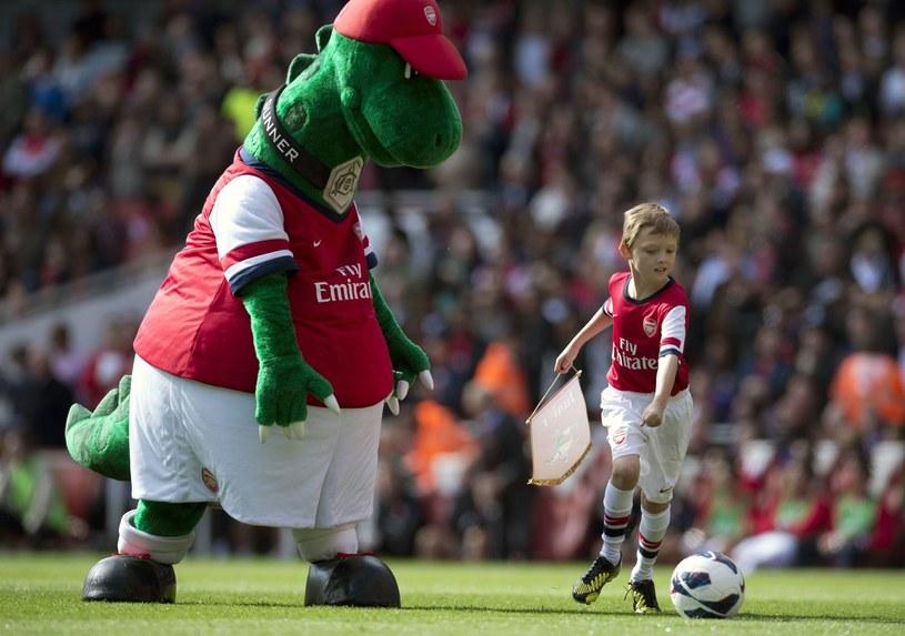 Gunnersaurus podczas meczu Arsenalu /AFP