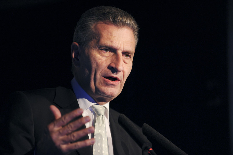 Gunther Oettinger /ERIC PIERMONT / AFP /AFP