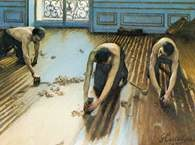 Gustave Caillebotte, Cykliniarze, 1875 /Encyklopedia Internautica