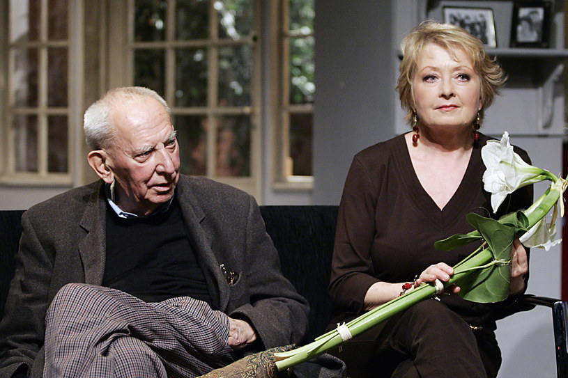 Gustaw Holoubek i Magdalena Zawadzka, 2007 rok /Niemiec /AKPA