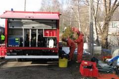 Gutkowo: Z cysterny wyciekło 60 tys. litrów oleju