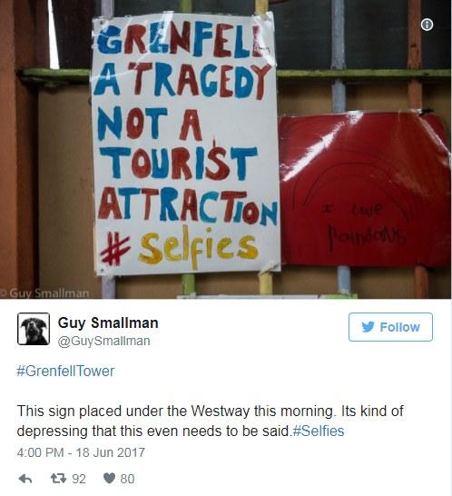 """Guy Smallman pisze na Twitterze: """"To znak umieszczony pod Westway dzisiaj rano. To tak dołujące, że nawet nie trzeba o tym mówić"""". /Twitter"""