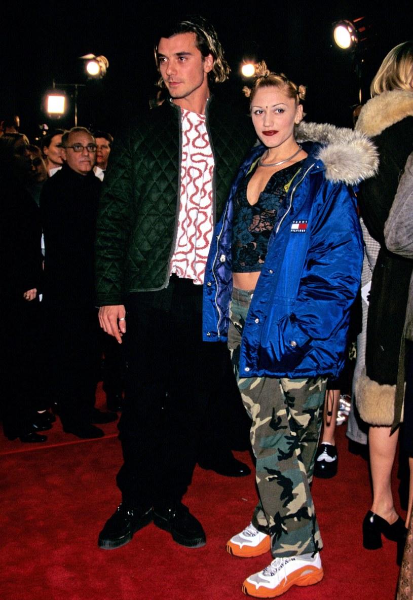 Gwen Stefani z byłym mężem - Gavinem Rossdale, rok 1997 /East News