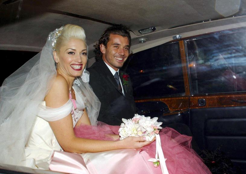Gwen Stefani z mężem w 2002 roku /Rex Features /East News