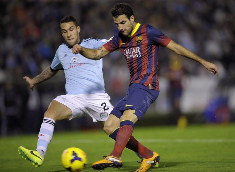 Gwiazda Barcelony Cesc Fabregas podczas meczu z Celtą Vigo /AFP