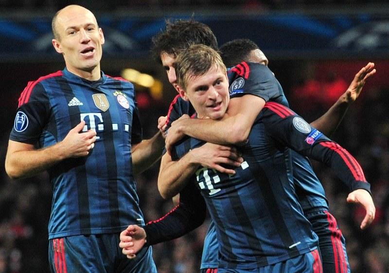 Gwiazda Bayernu Monachium Toni Kroos (na głównym planie) /AFP