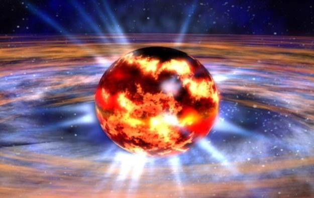 Gwiazda neutronowa - wizualizacja /NASA