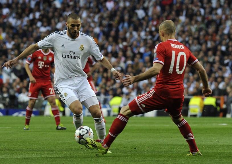 Gwiazda Realu Madryt Karim Benzema (z lewej) /AFP