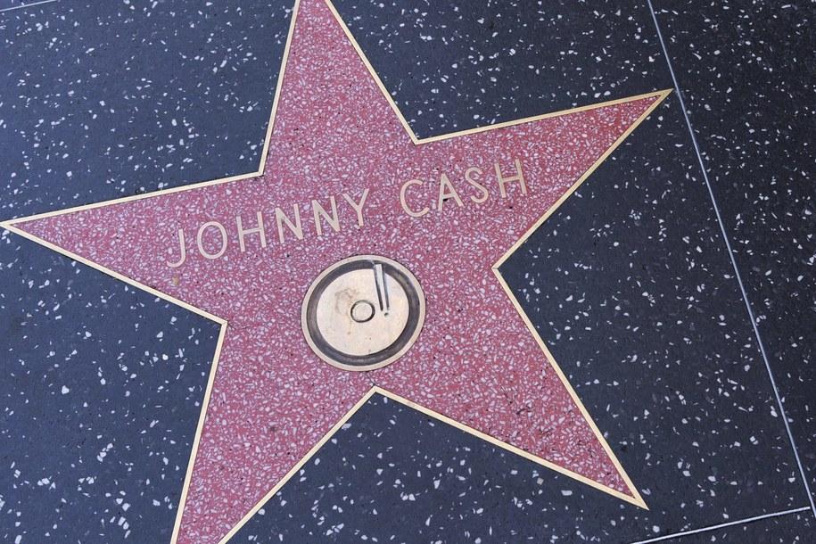 Gwiazda upamiętniająca Johnny'ego Casha w Alei Gwiazd /Panoramic  /PAP