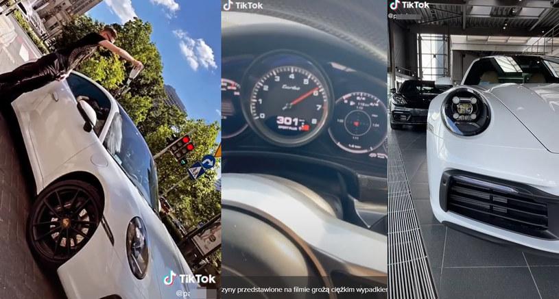Gwiazdor internetu lubi luksusowe auta i szybką jazdę /TikTok /