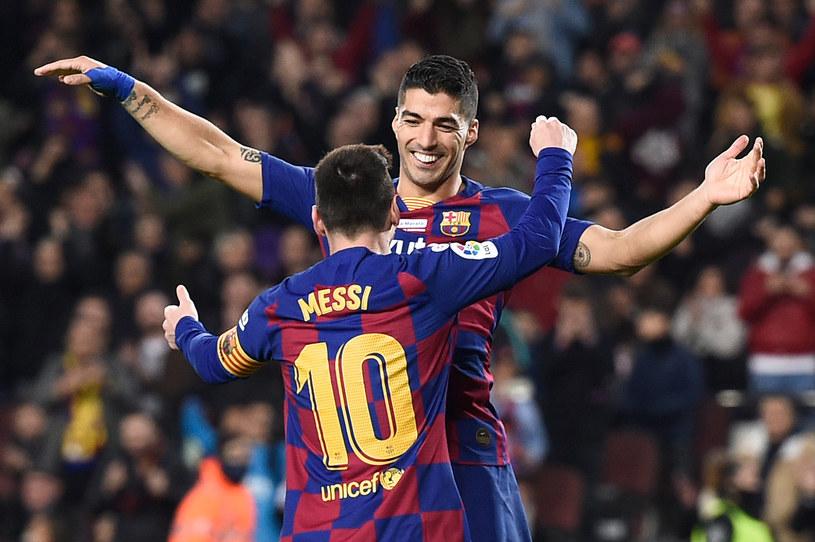 Gwiazdy Barcelony - Lionel Messi i Luis Suarez /AFP