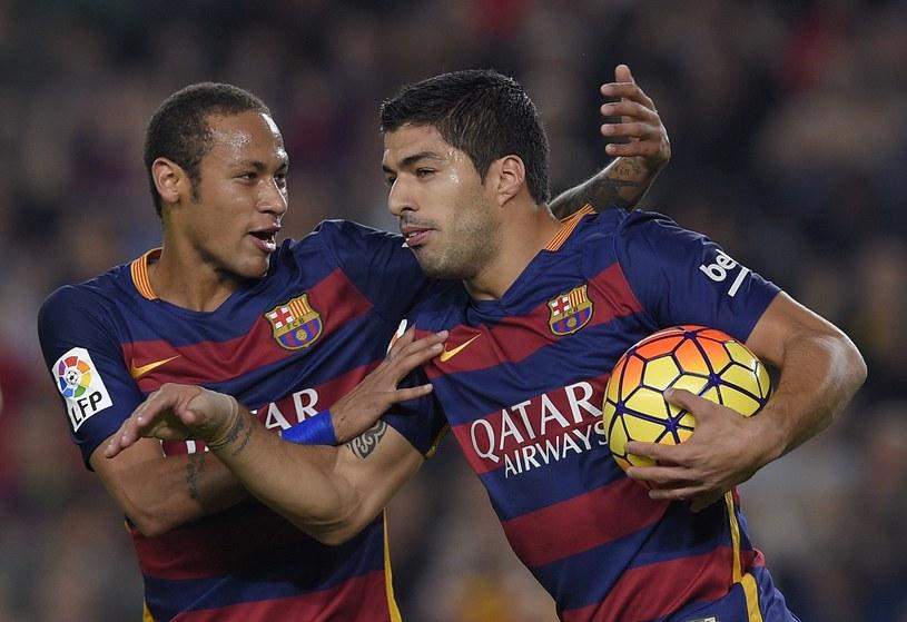 Gwiazdy Barcelony - Neymar i Luis Suarez /AFP
