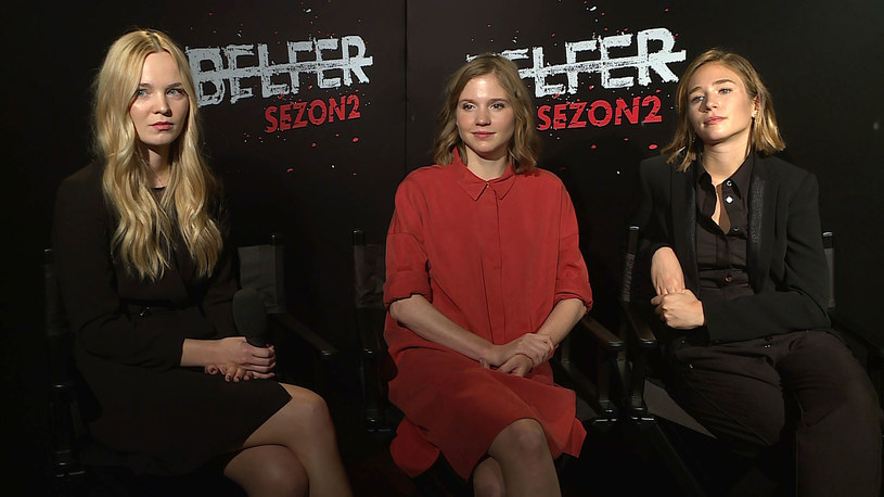 """Gwiazdy drugiego sezonu """"Belfra"""": Michalina Łabacz (L), Eliza Rycembel (C) i Zofia Wichłacz (P) /Canal+"""