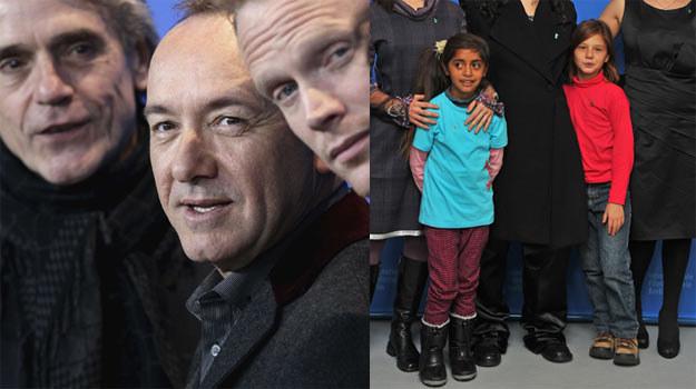 "Gwiazdy filmu ""Margin Call"" (L) i dzieci, grające w obrazie ""El Premio"" (P) - fot. P. Le Segretain /Getty Images/Flash Press Media"