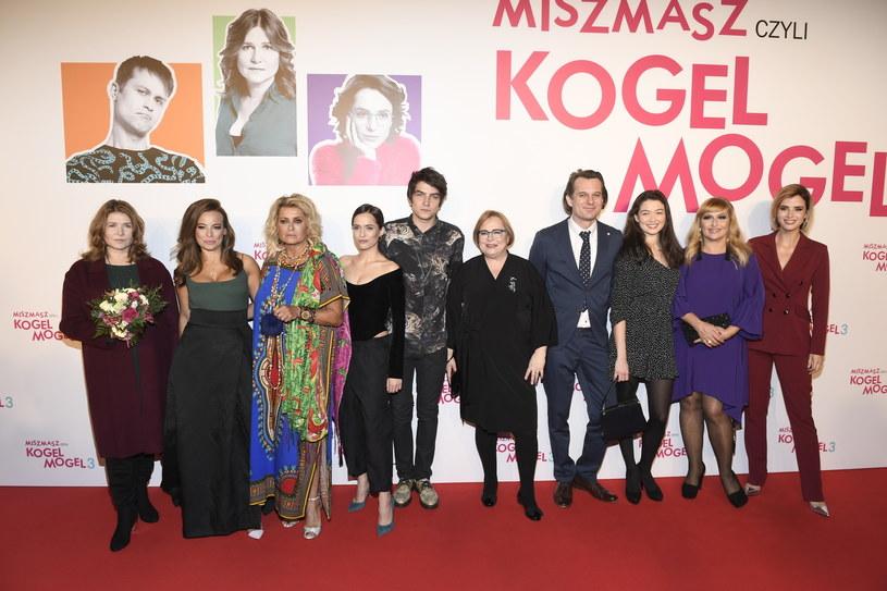 """Gwiazdy filmu """"Miszmasz, czyli Kogel-Mogel 3"""" / Mieszko Piętka /AKPA"""