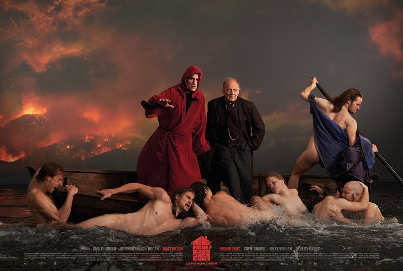 """Gwiazdy filmu """"The House that Jack Built"""" na promocyjnej fotografii /ZENTROPA PRODUCTIONS /materiały prasowe"""