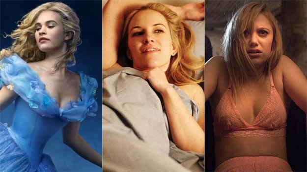 """Gwiazdy """"Kopciuszka"""" (L),  komedii """"To właśnie seks"""" (C) i horroru """"Coś za mną chodzi"""" (P) /materiały dystrybutora"""