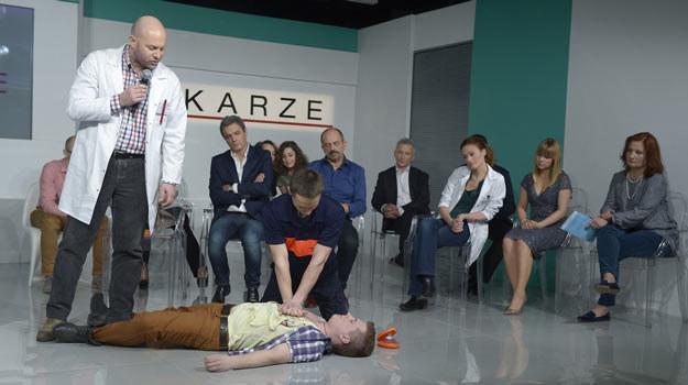 """Gwiazdy """"Lekarzy"""" podczas konferencji zapowiadającej 4. sezon produkcji TVN-u. /AKPA"""