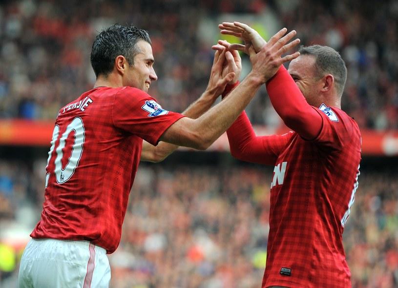 Gwiazdy Manchesteru United - Robin van Persie i Wayne Rooney /AFP