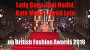 Gwiazdy na gali rozdania nagród British Fashion Awards