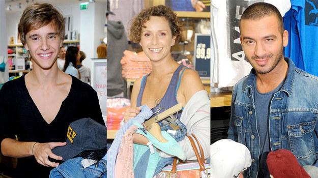 Gwiazdy na otwarciu pierwszego w Europie butiku amerykańskiej marki American Eagle /Agencja W. Impact