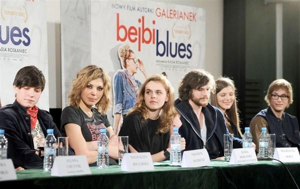 """Kasia Rosłaniec - reżyserka """"Bejbi blues"""" i gwiazdy filmu na konferencji prasowej"""