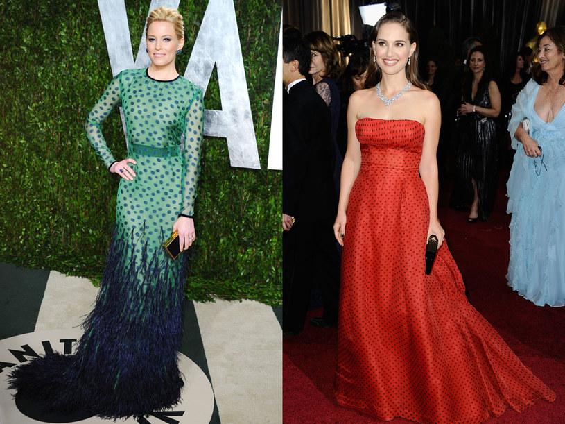 Gwiazdy też wybierają groszki, tu w wersji wieczorowej: Elizabeth Banks i Natalie Portman /- /Getty Images
