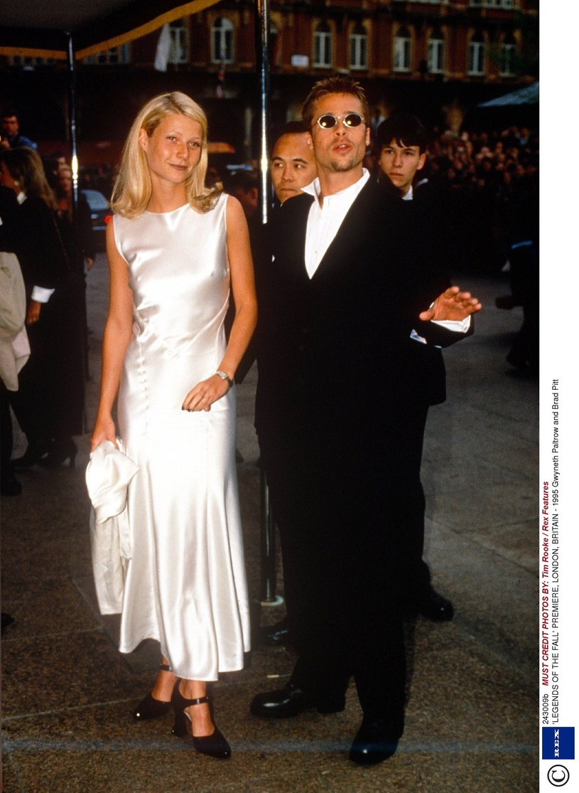 Gwyneth Paltrow i Brad Pitt w 1995 roku /Tim Rooke / Rex Features /East News
