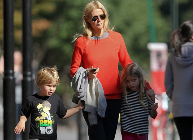 Gwyneth Paltrow z dziećmi: Apple i Mosesem /PPNY / GSNY / Splash News/EAST NEWS /East News