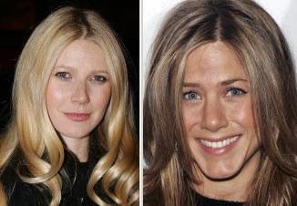 Gwyneth Paltrow z Jennifer Aniston łączy były związek z Bradem Pittem /AFP