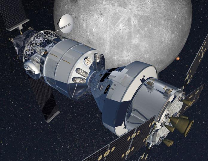 Habitat firmy Lockheed Martin na orbicie księżycowej ma składać się ze statku Orion oraz modułu opartego na statku Cygnus /materiały prasowe