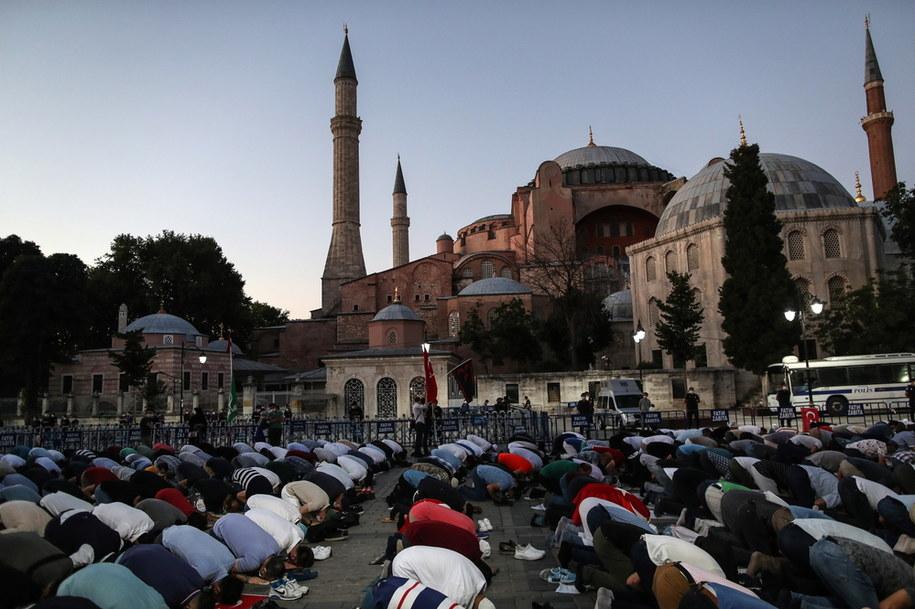 Hagia Sophia zostanie przekształcona w meczet /ERDEM SAHIN /PAP/EPA