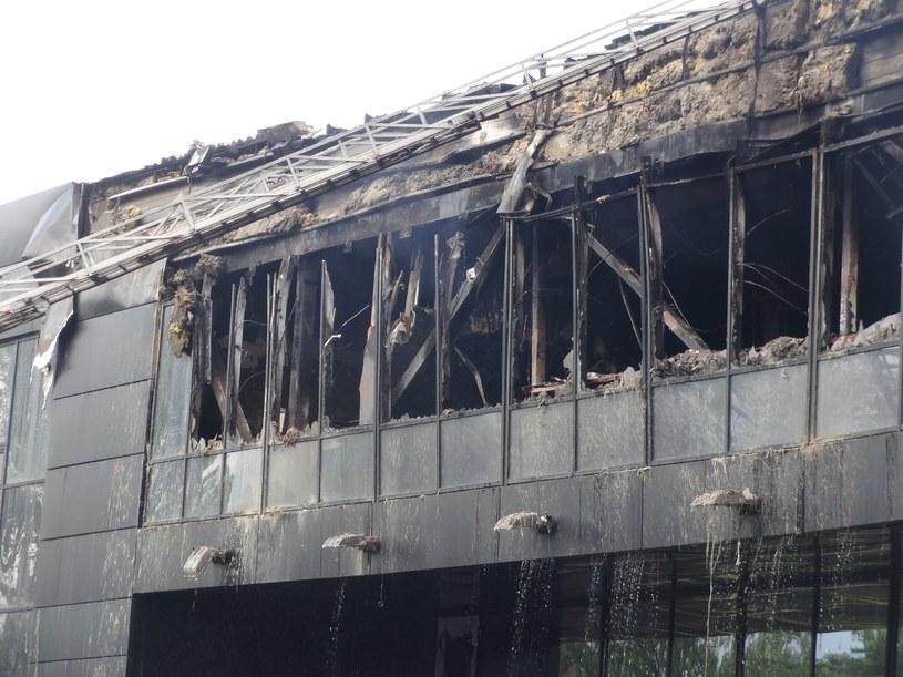 Hala w Doniecku po pożarze. /AFP