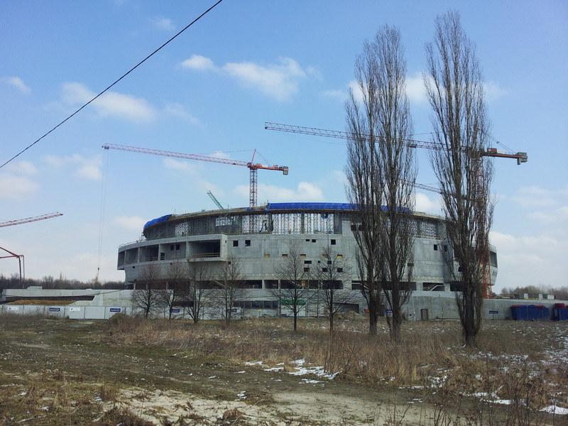 Hala w Krakowie jest nadal budowana. Termin oddania - połowa 2014 roku. /INTERIA.PL