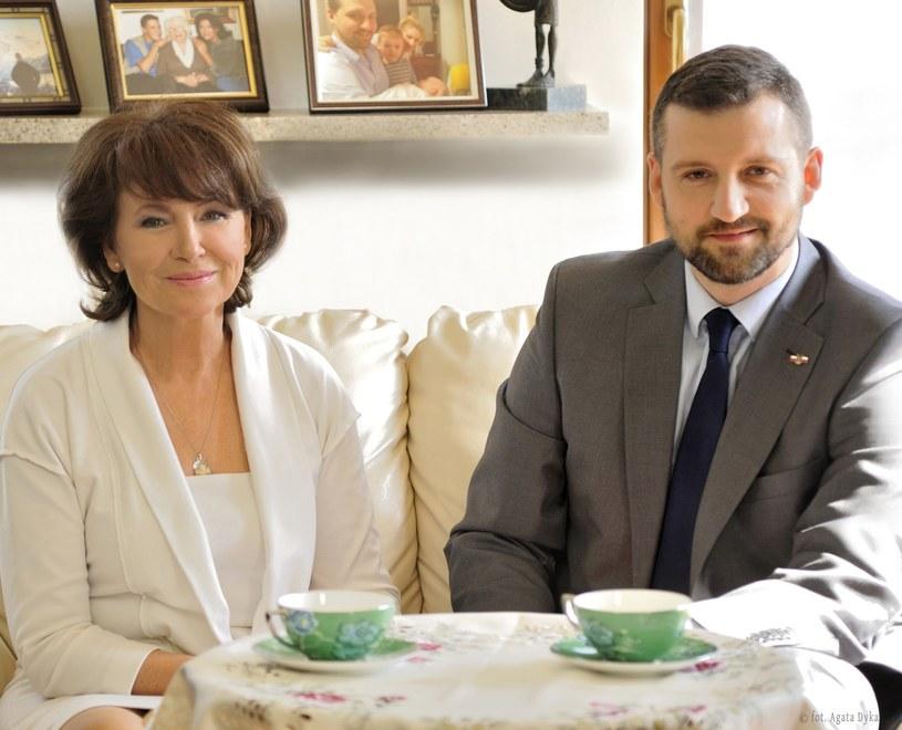 Halina Frąckowiak z synem Filipem popierają pomysł rodziny Ireny Jarockiej /Agata Dyka /Reporter