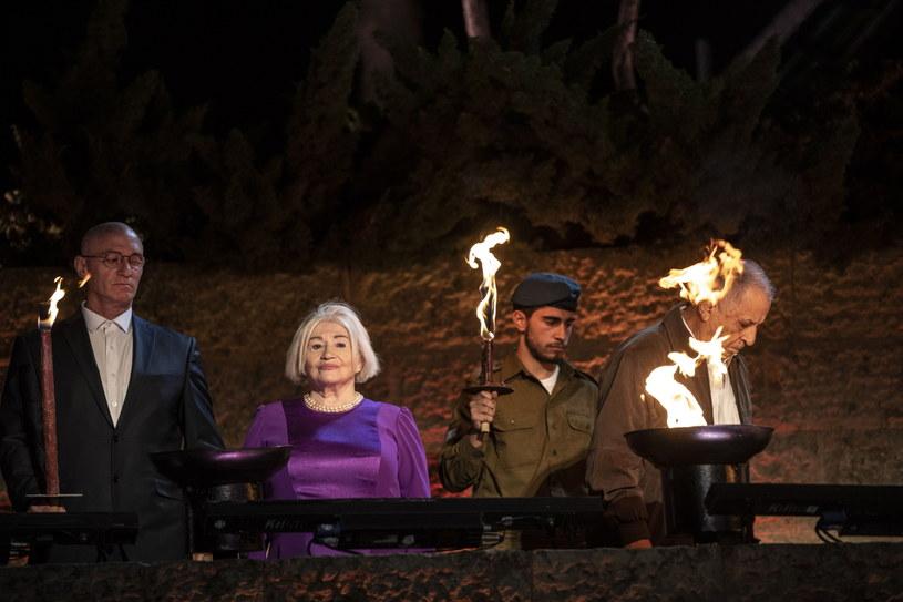 Halina Friedman w trakcie tegorocznych obchodów Dnia Pamięci Holokaustu /PAP/EPA/HEIDI LEVINE / POOL /PAP