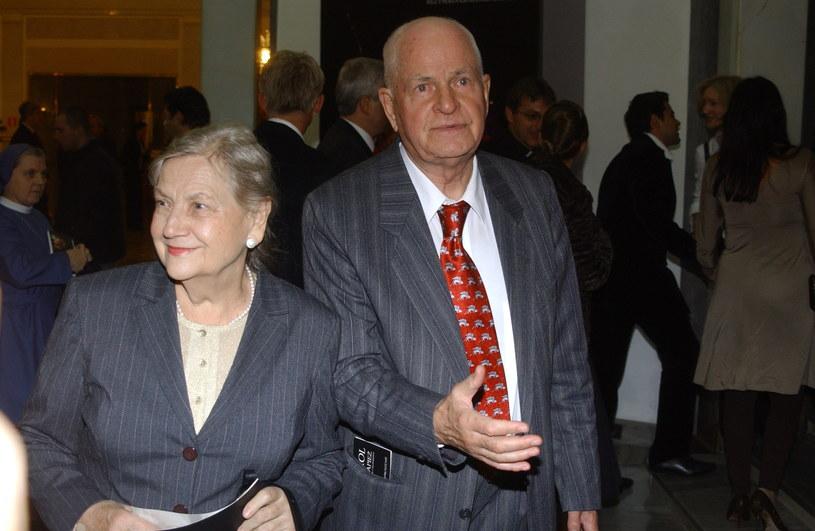 Halina i Jan Machulscy, rodzice Juliusza, rok 2006 /MWMedia