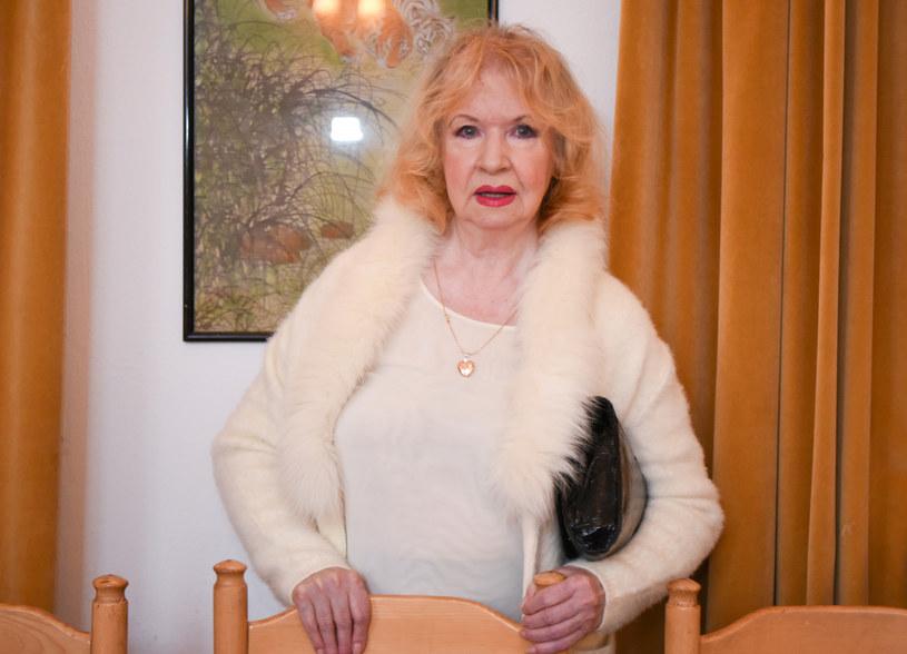 Halina Kowalska podczas tegorocznej wigilii w Domu Artysty Weterana w Skolimowie /Justyna Rojek /East News