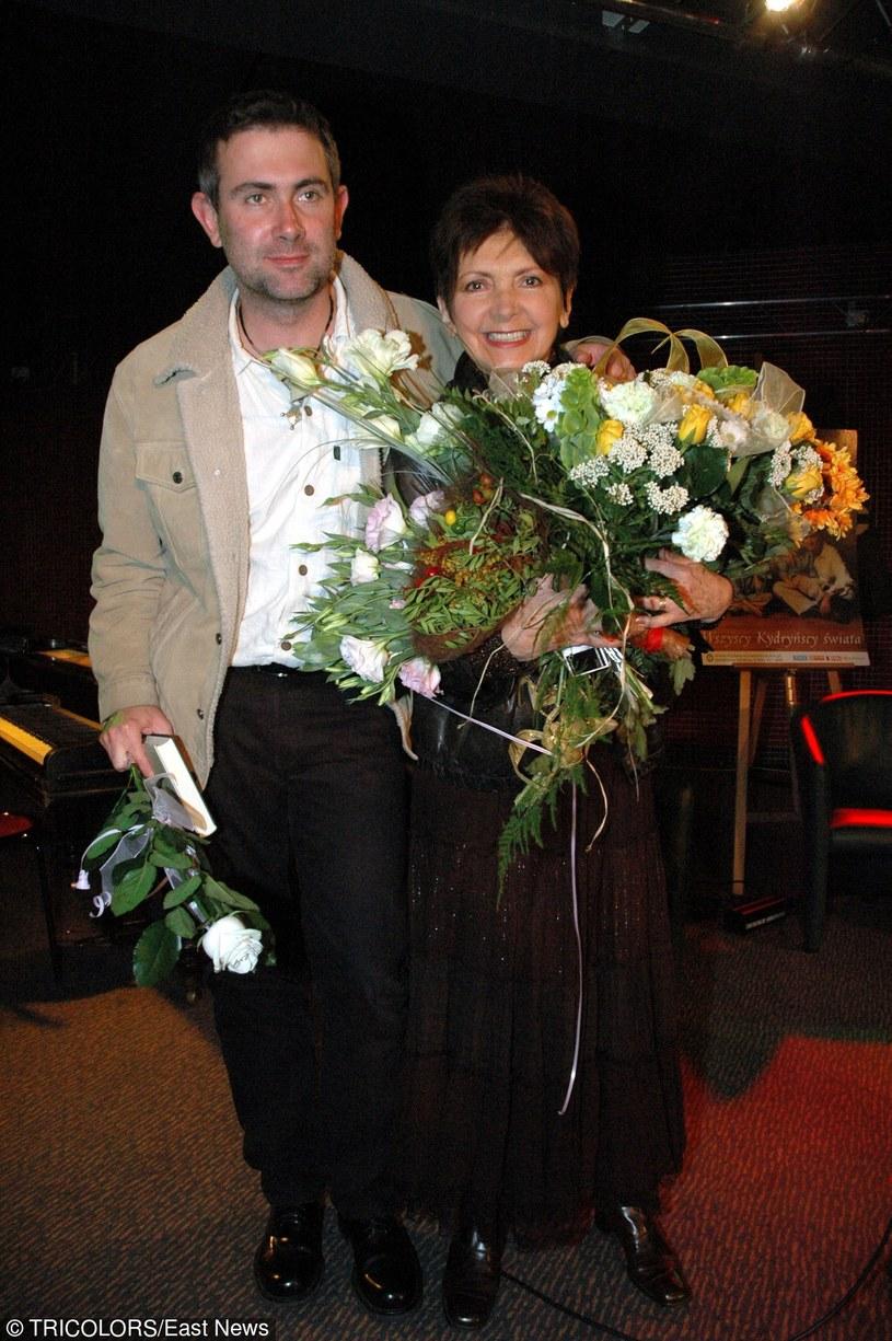 Halina Kunicka z synem Marcinem Kydryńskim /East News